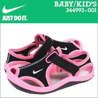 [最大2016日圆OFF][9000雙耐吉NIKE涼鞋嬰兒小孩SUNRAY PROTECT TD 344993-001黑色粉紅的]