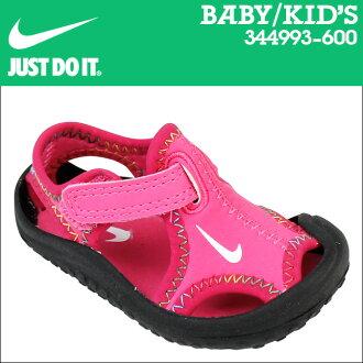 耐吉NIKE涼鞋嬰兒小孩SUNRAY PROTECT TD 344993-600櫻桃