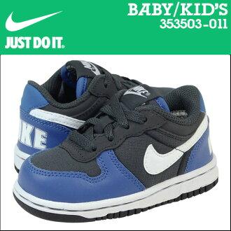 耐吉NIKE運動鞋嬰兒小孩BIG NIKE LOW LE TD 354503-011鞋藍色