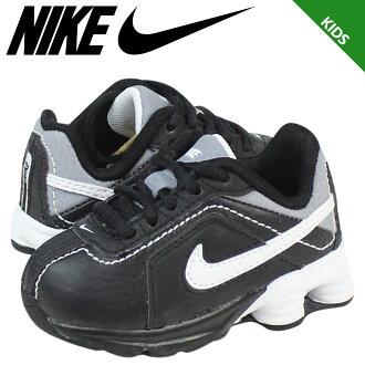 Nike 耐克嬰兒孩子出品的 SHOX 難題 TD 運動鞋出品的 Shox canandrum 蹣跚學步皮革初中孩子嬰兒學步車 407907-004 黑色