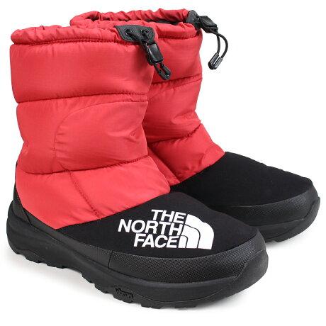 ノースフェイス THE NORTH FACE ヌプシダウンブーティ ブーツ メンズ レディース NUPTSE DOWN BOOTIE レッド NF51877 [予約商品 12/28頃入荷予定 新入荷]