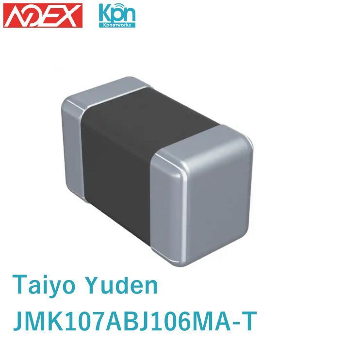 JMK107ABJ106MA-T Taiyo Yuden (太陽誘電) 10µF ±20% 6.3V セラミックコンデンサ X5R 0603 電子部品 在庫処分特価!