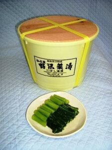 シャキシャキ食べ頃になってます越後の野沢菜樽漬(4kg)
