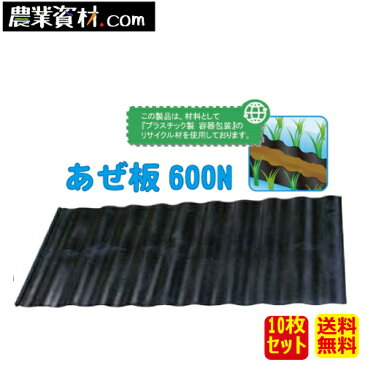 【企業限定】あぜ板 600N(10個セット・送料無料) 600(縦)×1200(横)×4.5(幅) 土留め 畦板 アゼ板