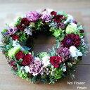 送料無料 Noiスタイル クリスマス 生花リース Noi Flower Regalo