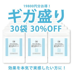 【30%OFF】noiDHA&EPA1000mgサプリ30袋セットギガ盛り