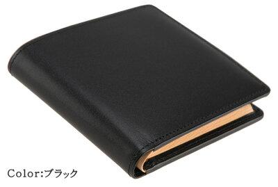 【キプリス】二つ折り財布(BOX小銭付札入)■シラサギレザー