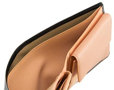【キプリス】二つ折り財布(ベロ・小銭入れ付き札入)■シラサギレザー