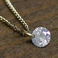 【完全受注生産】ダイヤ裸石ネックレス(お届け2~3週間)[HIRONDELLE/イロンデール]¥43050