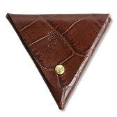 【イルビゾンテ IL BISONTE 財布】クロコダイル型押し三角コインケース[5402305041]【あす楽対応】【財布 コインケース】