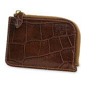 【イルビゾンテ IL BISONTE 財布】クロコダイル型押しコンパクトウォレット [商品番号_5432411340]【送料無料】【あす楽対応】【財布 二つ折り財布】