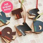 キーホルダーイニシャル革アルファベット名入れオリジナル木製メッセージ名札ストラップ合皮プレゼント木ギフト彫刻レーザー彫刻誕生日プチプラ