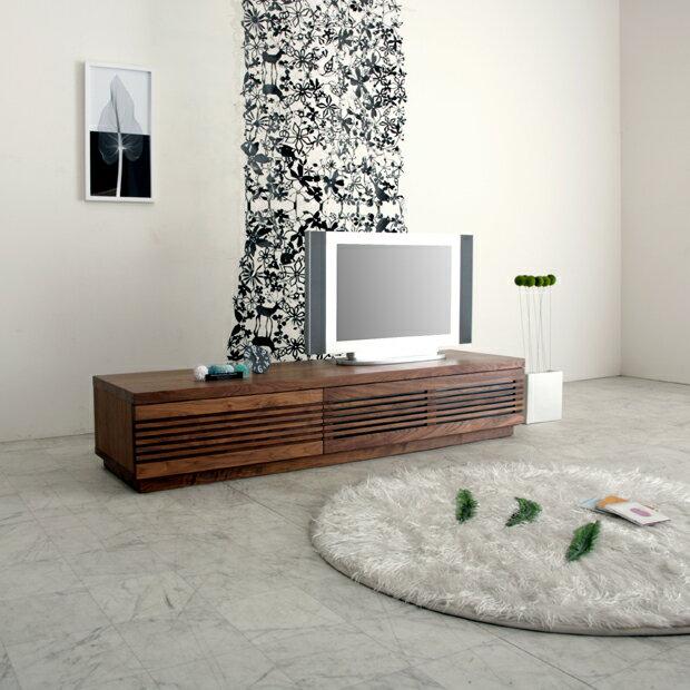 [jaggy ジャギー] テレビボード 幅180cm (ウォールナット/ブラックチェリー) テレビ台/ローボード/AVボード/TVボード/北欧/大川家具/野中木工所:NOLSIA