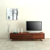 [slit スリット] テレビボード 幅160cm (ウォールナット/ブラックチェリー) テレビ台/ローボード/AVボード/TVボード/北欧/大川家具/野中木工所