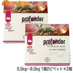 【2箱セット】プロフェンダースポット 猫用 5〜8kg 2ピペット(動物用医薬品)【あす楽】
