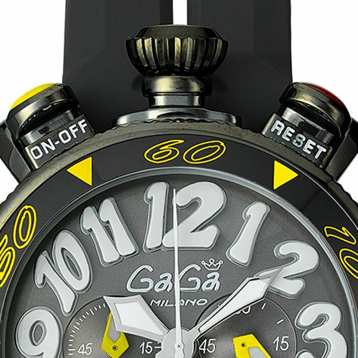 GaGa MILANO CHRONO 48MM BlackPVD/ガガミラノ クロノ 48MM ブラックPVD 6054.6 国内正規品 正規販売店 新品・未使用