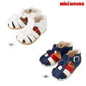 ミキハウス(mikihouse) つま先ガード☆やわらかベビーサンダル(日本製 ミキハウス 靴)