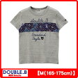 ダブルB(ミキハウス) ペイズリーラインの半袖Tシャツ(大人用)(日本製)