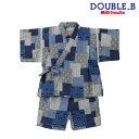 ダブルB(ミキハウス) Double B by MIKIHOUSE パッチワーク柄甚平スーツ【日本製】【キッズ】