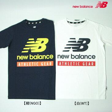 new balance ニューバランス ロゴプリント半袖Tシャツ【メール便可】【キッズ】【ジュニア】