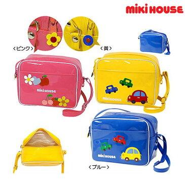ミキハウス MIKIHOUSE 車&お花のエナメル幼稚園バッグ【日本製】【送料無料】 【キッズ】