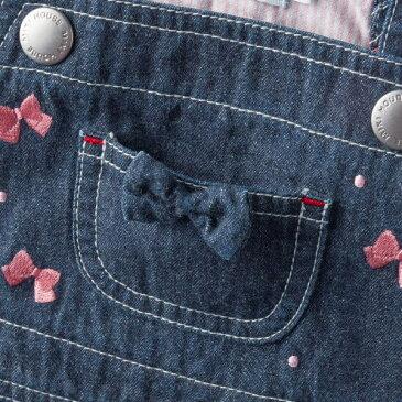 ミキハウス【MIKIHOUSE】 プチうさこ 薄手のデニムジャンパースカート【日本製)【送料無料】 【ベビー】 【キッズ】