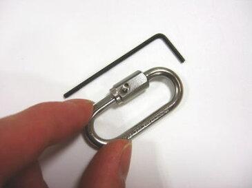 ステンレス ネジ止めリングキャッチ 内径34ミリ ネジがゆるまない!しかも、また開けられる!