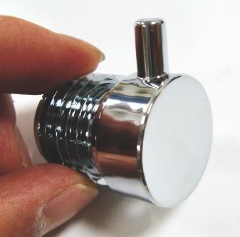 ロイヤル25ミリ丸パイプに使用するエンドキャップ(単品)フラットロコキャップデコクローム