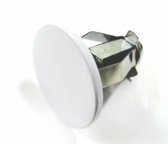 ロイヤル Hバーエンダースチール 25ミリ丸パイプに使用する エンドキャップ(単品)ホワイト 14個まで1通のメール便OK