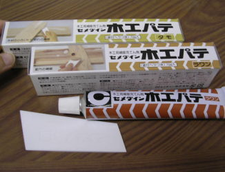 木工用補修充てん剤木工パテ節穴の補修や、小さいヒビ割れ等に