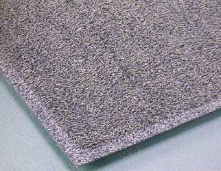 除塵用マット ケミタングル ソフトII 450ミリ×750ミリ 灰色(お取り寄せ商品) 抗菌剤入り 土、砂、ホコリを良く落とす!