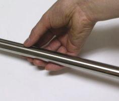 ステンレス巻きパイプ 太さ19ミリ1センチ単位で承ります。(15〜180センチの間でご注文ください...