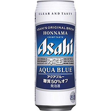 【2ケース単位】【!】(北海道、沖縄、離島地域は除く。配送はヤマト運輸で。)アサヒ本生アクアブルー500ML缶(6缶パック×4入=24本×2)2ケース売り
