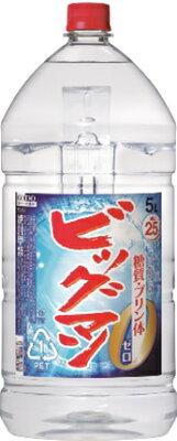 ギフト プレゼント 敬老の日 家飲み 焼酎 焼酎甲類 ビッグマン 25度 5Lペット 1ケース4本入り 合同酒精