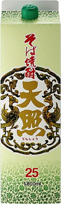 一部 2ケース単位12本入 25度 天照 1.8Lパック 2ケース12本入 そば焼酎 宮崎県 神楽酒造