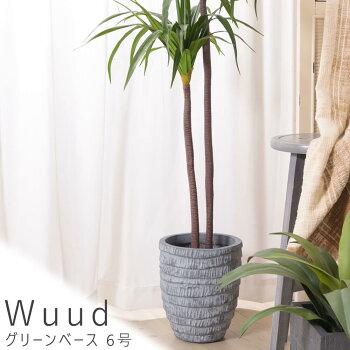 Wuud(ウード) グリーンベース 6号 プランター 植木鉢 グリーンベース フラワーベース 観葉植物 円形 6号 送料無料