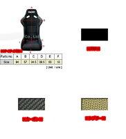 『Borderバケットシート』☆SP-1☆FRPファブリック(赤・黒・青)