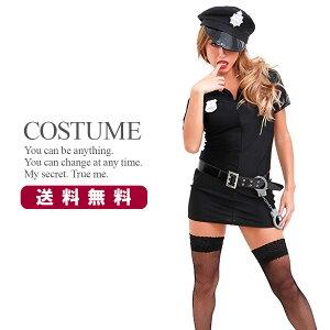 [무료 배송] [즉납] 섹시 경찰 의상 경찰관 할로윈 코스프레 의상 의상 5 종 세트 [ohyeah A73421]
