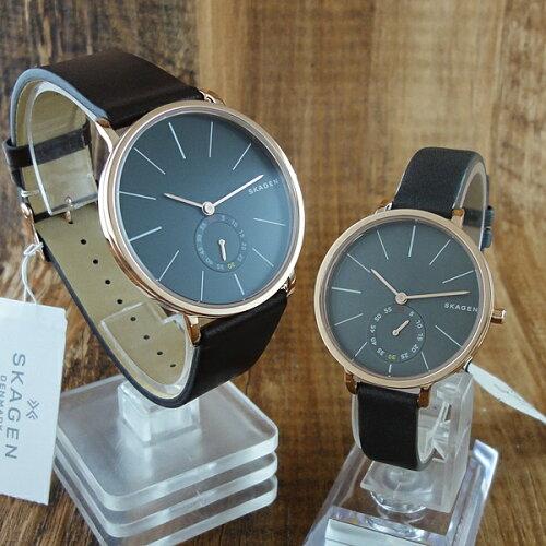 ペア腕時計 ボックス付き スカーゲン 時計 ペアウォッチ ハーゲン スモールセコンド レザー SKW621...