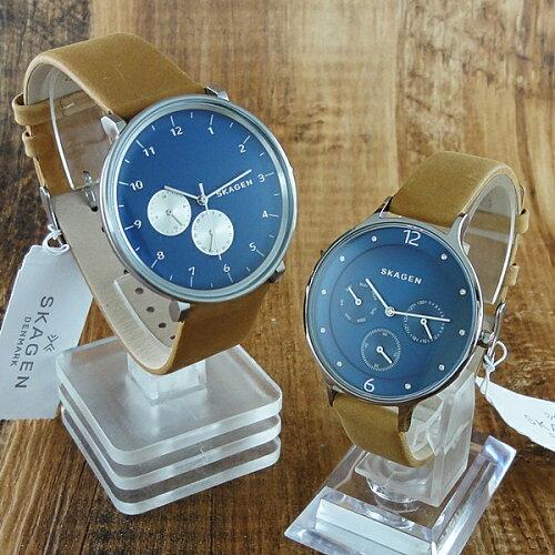 ペア腕時計 ボックス付き スカーゲン 時計 ペアウォッチ ハルド アニタ ブルー文字盤 SKW6167SKW23...