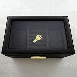 時計収納ボックス腕時計BOXペアウォッチペアボックスコレクションBOXアクセサリーケースリング収納ブラウン