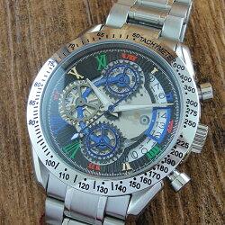 国内正規品サルバトーレマーラ時計メンズ腕時計シルバークロノグラフタキメーターSM13108-SSBKCL