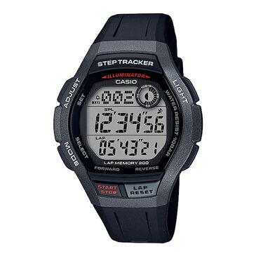 健康サポート機能多数搭載! CASIO カシオ 国内正規品 腕時計 メンズ SPORTS GEAR スポーツギア デジタル ジョギング ランニング 歩数計 グレー×ブラック 防水 WS-2000H-1AJF ブランド 男性 仕事 誕生日 お祝い プレゼント ギフト