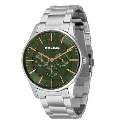 国内正規品ポリス時計メンズ腕時計COURTESYコーテシーデイデイトグリーン文字盤ステンレス14701JS-53M