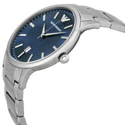 エンポリオアルマーニ時計メンズ腕時計ネイビー文字盤シルバーAR2477