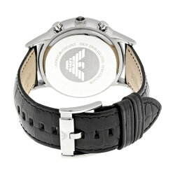 エンポリオアルマーニ時計メンズ腕時計クロノグラフブラックレザーAR2447