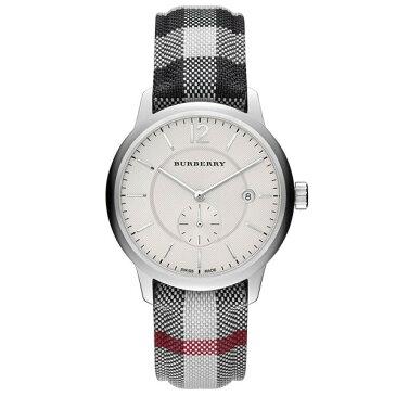 バーバリー 時計 メンズ レディース 腕時計 ユニセックス シルバー チェック柄 レザーベルト BU10002 ビジネス 男性 女性 ブランド 誕生日 お祝い プレゼント ギフト