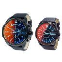 限定特価【ペア時計BOX付き】ディーゼル ペアウォッチ 腕時計 メンズ レディース 大きい ビック 偏光ガラス レザー 革ベルト DZ4323DZ1657 ブランド カップル 男女 ペアセット 2本セット 誕生日 お祝い プレゼント ギフト・・・