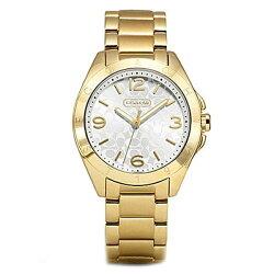 コーチ時計レディース腕時計TRISTENトリステンゴールドシグネチャーステンレスブレスレット14501785