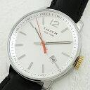コーチ 時計 メンズ 腕時計 ブリーカー シルバー文字盤 ブラックレザー 14601521 ビジネス 男性 ブランド 誕生日 お祝い プレゼント ギフト